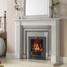 57″ Georgian Roundel with gazco convector box fire