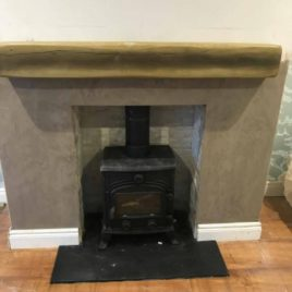 5kw Stove package complete with hearths oyster chamber and beam.