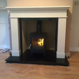 54″ Renoir Fireplace package with Stovax Stockton 5kw stove