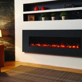 Gazco Radiance 150W steel electric fire in graphite