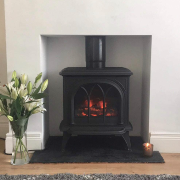Recently Installed Stovax Huntington electric stove in Dunmurry