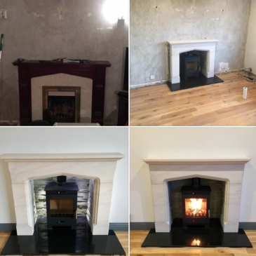 Recent stove & fireplace installed in Glengormley
