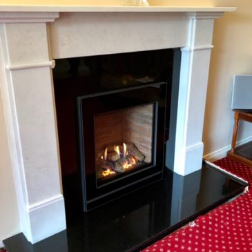 Recent installation of Stovax Claremont surround completed with the stunning Gazco Riva2 530